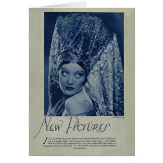 Joan Crawford 1928 vintage portrait card
