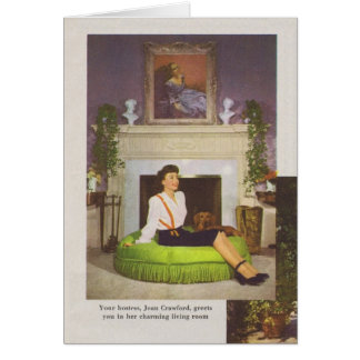 Joan Crawford Brentwood Home 1944 Card