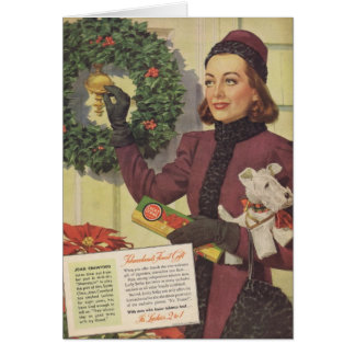 Joan Crawford Christmas Ad 1937 Card
