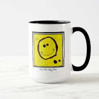 joan miro happy face mug
