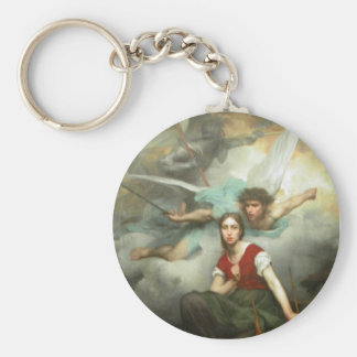 Joan of Arc Basic Round Button Key Ring