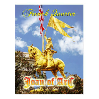 Joan of Arc (Maid of Orleans) statue, New Orleans Postcard