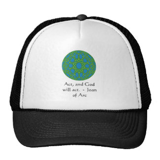 Joan of Arc Quote With Amazing Design Trucker Hats