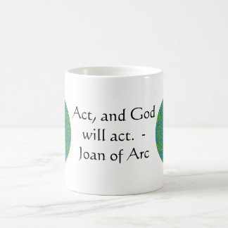 Joan of Arc Quote With Amazing Design Mugs