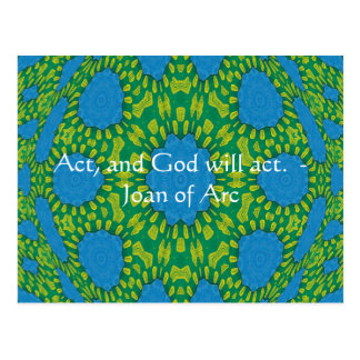 Joan of Arc Quote With Amazing Design Postcard