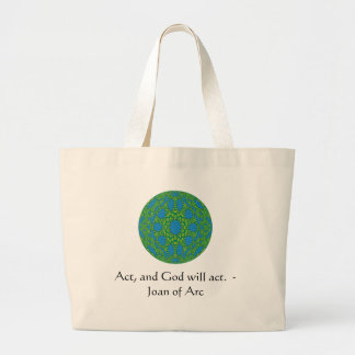 Joan of Arc Quote With Amazing Design Jumbo Tote Bag
