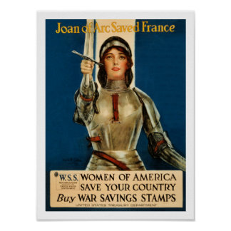 Joan Of Arc saved France World War 1 Poster