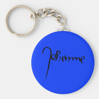 Joan of Arc Signature Basic Round Button Key Ring