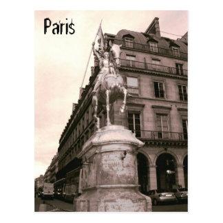 Joan of Arc Statue Paris Postcard
