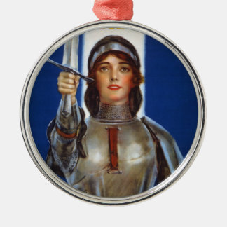 Joan of Arc World War I Buy War Saving Stamps Metal Ornament