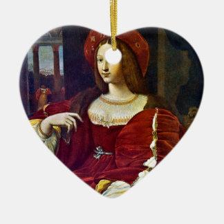 Joanna of Aragon by Raphael Ceramic Heart Decoration