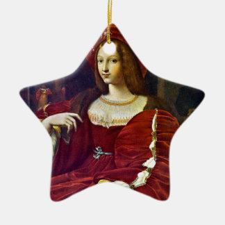 Joanna of Aragon by Raphael Ceramic Star Decoration