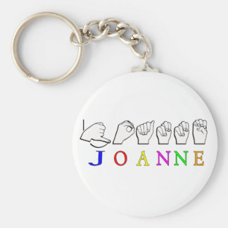 JOANNE ASL KEYCHAIN NAME FINGERSPELLED