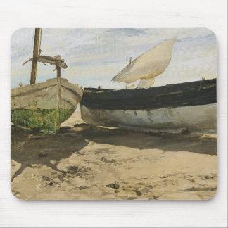 Joaquin Sorolla - Fishing boats on the beach Mouse Pad