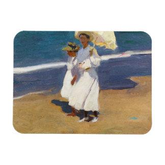 Joaquin Sorolla - On the Beach Magnet