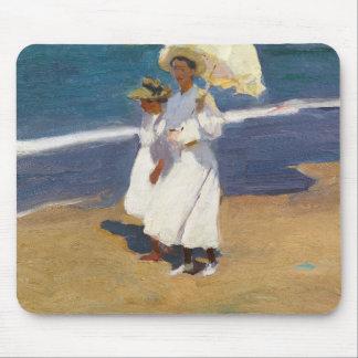 Joaquin Sorolla - On the Beach Mouse Pad