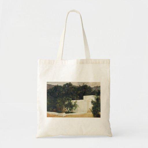 Joaquín Sorolla- Orange trees on road to Seville Canvas Bags