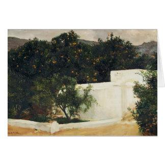 Joaquín Sorolla- Orange trees on road to Seville Greeting Card