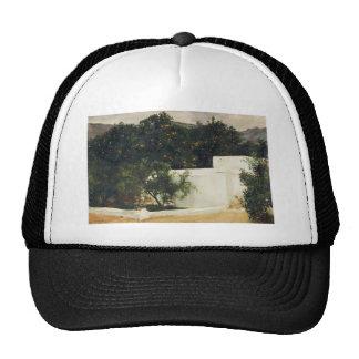 Joaquín Sorolla- Orange trees on road to Seville Mesh Hats