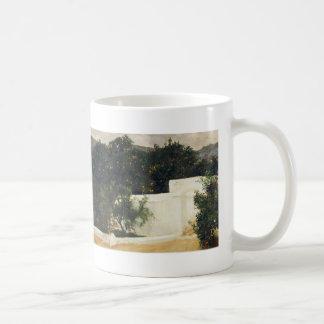 Joaquín Sorolla- Orange trees on road to Seville Basic White Mug