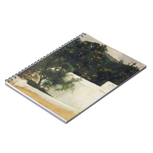 Joaquín Sorolla- Orange trees on road to Seville Spiral Note Book