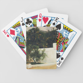 Joaquín Sorolla- Orange trees on road to Seville Poker Deck
