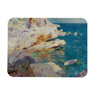 Joaquin Sorolla-Rocks of Javea and the White Boat Magnet
