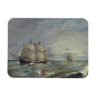 Joaquin Sorolla - Sailboats in the Sea Magnet