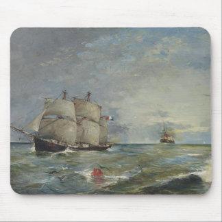 Joaquin Sorolla - Sailboats in the Sea Mouse Pad