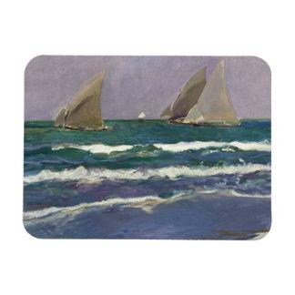 Joaquin Sorolla - Ship Sails in the Sea Magnet