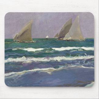 Joaquin Sorolla - Ship Sails in the Sea Mouse Pad