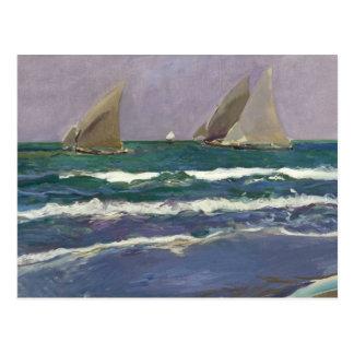 Joaquin Sorolla - Ship Sails in the Sea Postcard