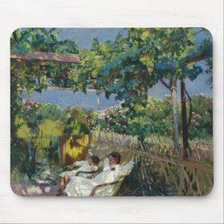 Joaquin Sorolla - Siesta in the Garden Mouse Pad