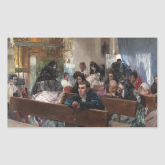 Joaquin Sorolla - The Baptism Rectangular Sticker