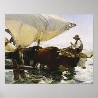 Joaquin Sorolla - The Return from Fishing Poster