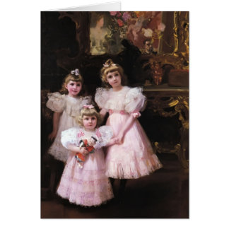 Joaquín Sorolla- The Three Errazuriz Sisters Card