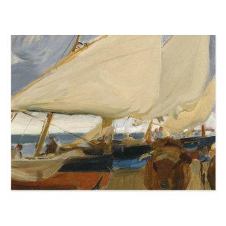 Joaquin Sorolla - Valencia Beach Postcard