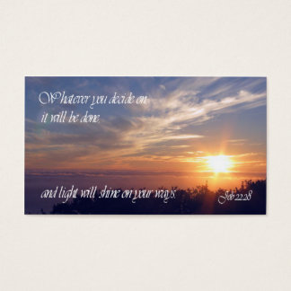 Job 22:28 Inspirational Wallet Cards