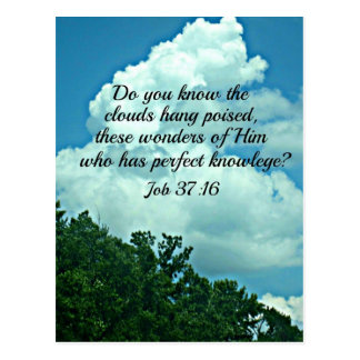 Job 37:16 Do you know the clouds... Postcard