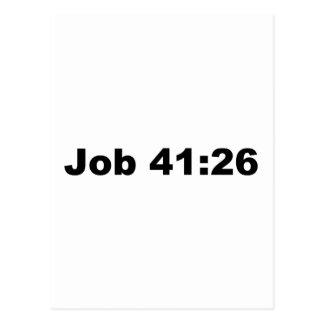 Job 41:26 postcard