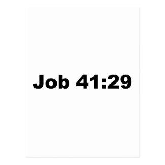 Job 41:29 postcard