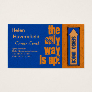Job Career Coach / Motivational Trainer Urban Chic Business Card
