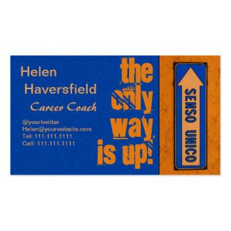 Job Career Coach / Motivational Trainer Urban Chic Pack Of Standard Business Cards