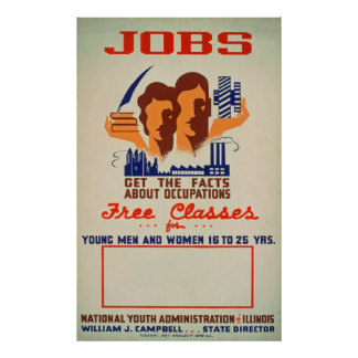 Job Classes Vintage Poster