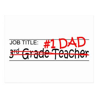 Job Dad 3rd Grade Postcard