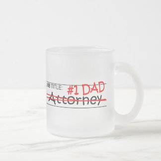 Job Dad Attorney Frosted Glass Mug