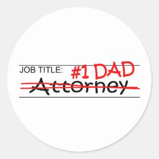 Job Dad Attorney Round Sticker