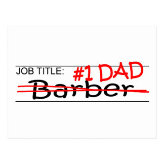 Job Dad Barber Postcard