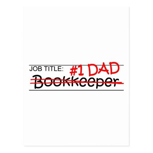 Job Dad Bookkeeper Post Card