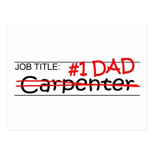 Job Dad Carpenter Post Card